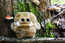 Клыкастик МАСЛЮК Смотрящий в будущее монстрик. Воодушевляющий клыкастик. Маслюк любит наблюдать за природой. Его страсть - это всевозможные грибы, в том числе и их поедание. Натуралист. Ходячий позитивчик.