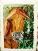 """Картина  """"Лошадь Стелла"""" Гуашь, шерсть Размер А4 1500 руб."""
