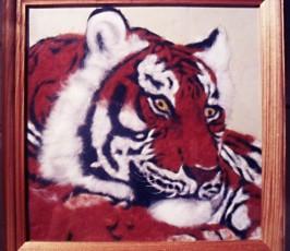 Картина из шерсти Размер 20*20 1800 руб.