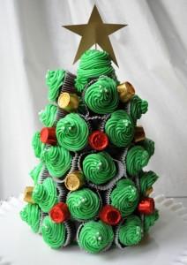 елка из кексов