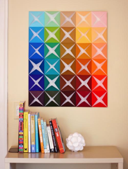 Декоративное панно на стену своими руками из бумаги