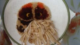 вышивка сова