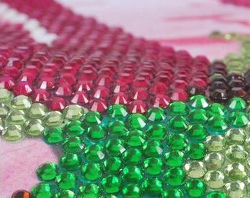 как делать алмазную мозаику с круглыми стразами