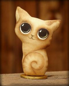 чердачная кукла кошка