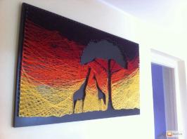 африка из ниток стринг арт