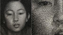 стринг арт портрет