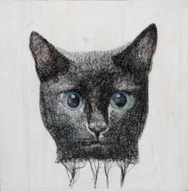 кошка из нитей картина