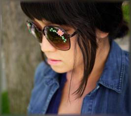 очки вышивка