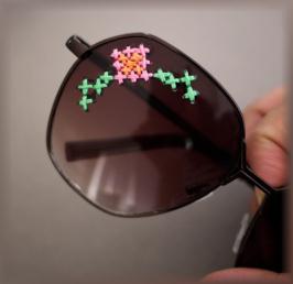 вышивка очки