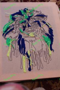 ковровая вышивка петлей