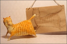 кот папье-маше
