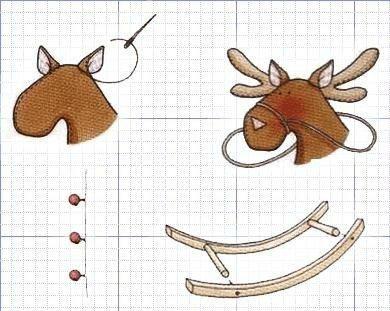 выкройка оленя