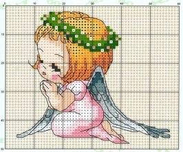 схема вышивка ангел